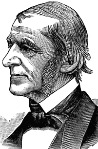 Portrait of Ralph Waldo Emerson, by W. J. McAuliffe, published in Mate's Illustrated Guides: Taunton (Bournemouth, : W. Mate & Sons, Ltd., 1907)